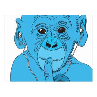 Monkey Music Postcard