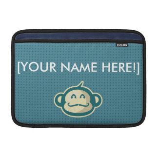 Monkey Mustache Blue Dots MacBook Air Sleeve