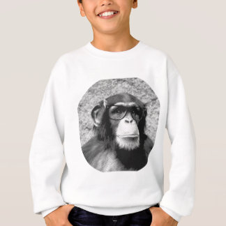 Monkey nerd Glasses Evolution Sweatshirt