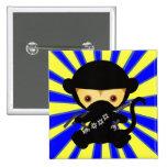 Monkey Ninja Kawaii style Buttons