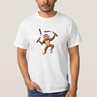 Monkey Nunchaku T-Shirt