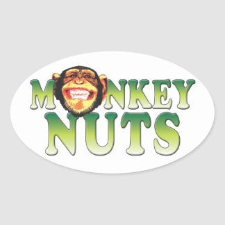 Monkey Nuts Oval Sticker