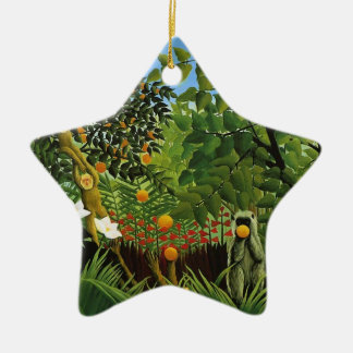 Monkey of foreign scenery primenal forest ceramic ornament