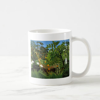 Monkey of foreign scenery primenal forest coffee mug