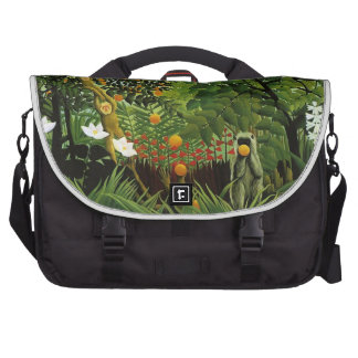 Monkey of foreign scenery primenal forest laptop messenger bag