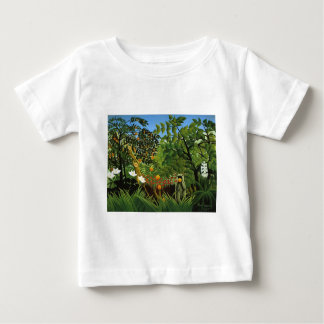 Monkey of foreign scenery primenal forest infant t-shirt