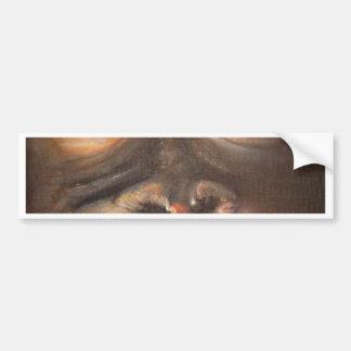 Monkey Oil Painting Funny Face Kerra Lindsey Bumper Sticker