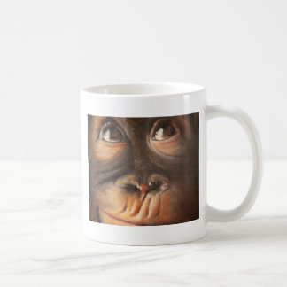 Monkey Oil Painting Funny Face Kerra Lindsey Coffee Mug