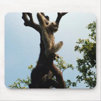 monkey on a tree mouse pad