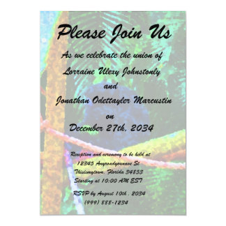 monkey on branch colorful blots 5x7 paper invitation card