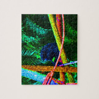 monkey on branch colorful blots jigsaw puzzle