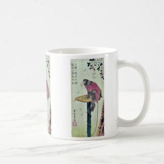 Monkey on cherry blossoms by Ando,Hiroshige Coffee Mug