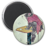 Monkey on cherry blossoms by Ando,Hiroshige Fridge Magnets