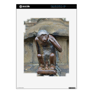 monkey on Grand Place of Mons, Belgium Decals For The iPad 2