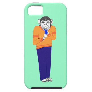 Monkey on iPhone,on various iPhone cases Customize iPhone 5/5S Case