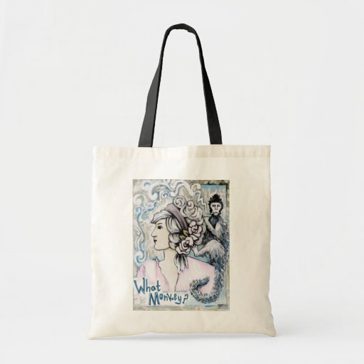 Monkey On my Back, Art Products Budget Tote Bag