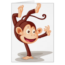 Monkey On One Hand Greeting Cards
