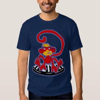 monkey on piano t-shirt