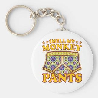 Monkey Pants Smell Basic Round Button Keychain