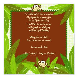 Monkey Party Invite