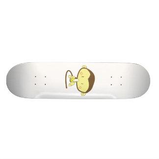 Monkey peeling a banana skateboard deck