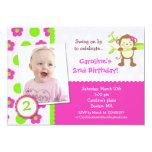 Monkey Photo Birthday Party Invitation