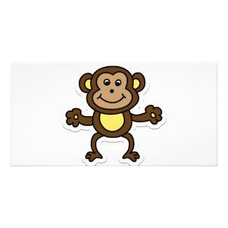 monkey photo card