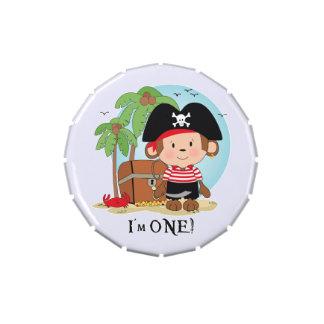 Monkey Pirate 1st Birthday Jelly Belly Candy Tin