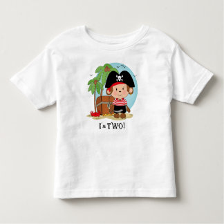 Monkey Pirate 2nd Birthday Shirt