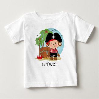 Monkey Pirate 2nd Birthday Tshirt