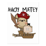 Monkey Pirate Ahoy Matey t-shirts and Gifts Postcards