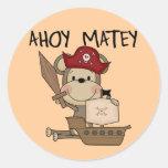Monkey Pirate Ahoy Matey t-shirts and Gifts Sticker