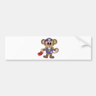 Monkey Pirate Bumper Sticker