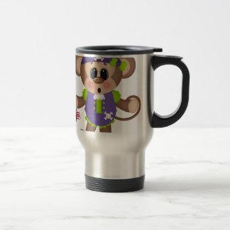 Monkey Pirate Stainless Steel Travel Mug