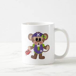 Monkey Pirate Classic White Coffee Mug