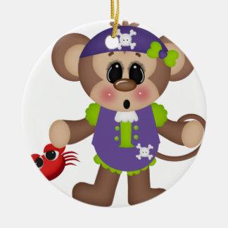 Monkey Pirate Christmas Tree Ornaments