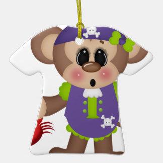 Monkey Pirate Christmas Ornaments