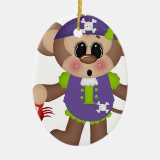 Monkey Pirate Christmas Tree Ornament