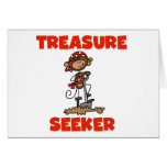 Monkey Pirate Treasure Seeker Tshirts and Gifts Cards