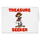 Monkey Pirate Treasure Seeker Tshirts and Gifts Greeting Card