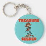 Monkey Pirate Treasure Seeker Tshirts and Gifts Keychain
