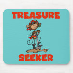Monkey Pirate Treasure Seeker Tshirts and Gifts Mouse Pad