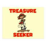 Monkey Pirate Treasure Seeker Tshirts and Gifts Postcard