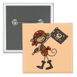 Monkey Pirate With Flag Tshirts and Gifts Buttons