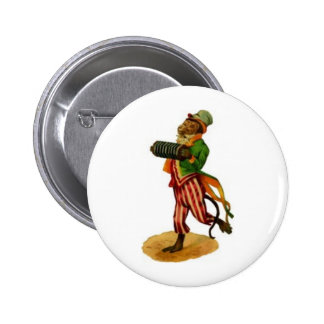 Monkey Playing the Accordian Pinback Buttons