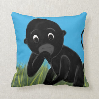 Monkey playtime throw pillow
