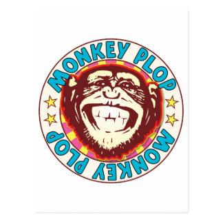 Monkey Plop Postcard