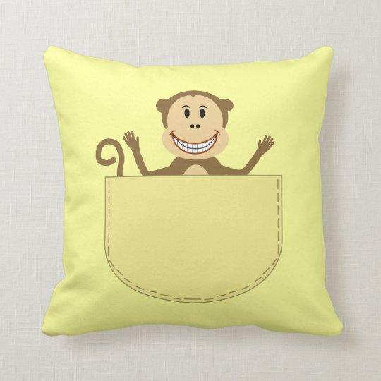 Monkey Pocket Pal Pillow