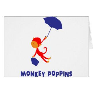 Monkey Poppins Greeting Card