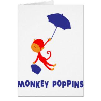 Monkey Poppins Card